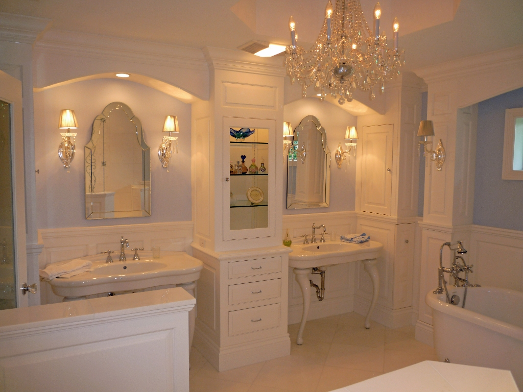 Traditional bathrooms european cabinets and design for Traditional bathroom ideas photo gallery